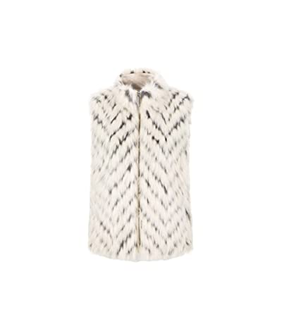 Tribal Faux Fur Vest (Eggshell) Women