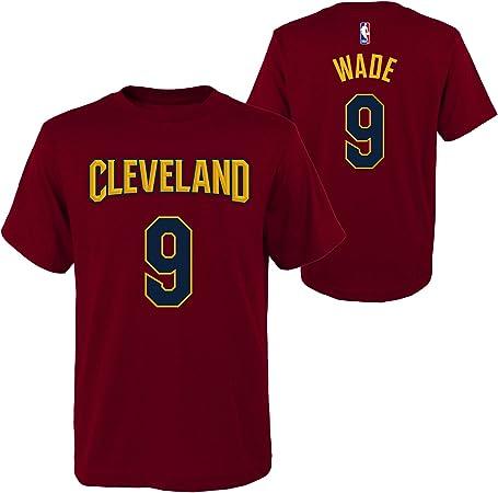 Outerstuff Dwyane Wade Cleveland Cavaliers # 9 NBA Juventud niños Nombre & número Camiseta Burdeos