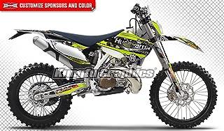 Kungfu Graphics Custom Decal Kit for Husqvarna TC FC 125 250 350 450 2015, Black White Green, Style 032