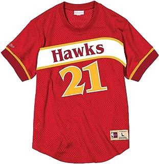 Mitchell & Ness Dominique Wilkins Atlanta Hawks Men's Name & Number Red Mesh Crewneck