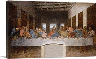 "ARTCANVAS The Last Supper 1498 Canvas Art Print by Leonardo da Vinci - 26"" x 18"" (0.75"" Deep)"