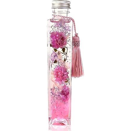 フローリストレマン プリザーブドフラワー ハーバリウム お供え 仏花 お悔やみ 角瓶 (ピンク)