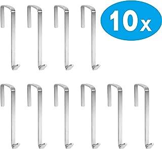 10 Pack Over The Door Metal Hook Hanger