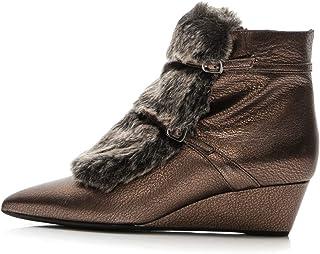 957dd640 GEOX Zapatos de Invierno para Mujer con Piel Natural de Piel Sintética,  Botines 41 EU