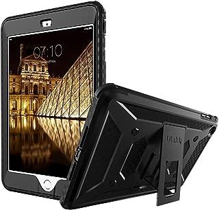 ULAK iPad Mini Case Knox Armor Full-Body Rugged Hybrid Protective Case Kickstand for Apple iPad Mini 1/2/3 with Built-in Screen Protector (Black)