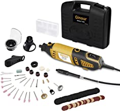 Ginour 1.5AMP 6+Max Variable Speed Rotary Tool Kit with Flex Shaft, 4 Attachments and 105 pcs Accessories for Home Tasks and Crafting Projects