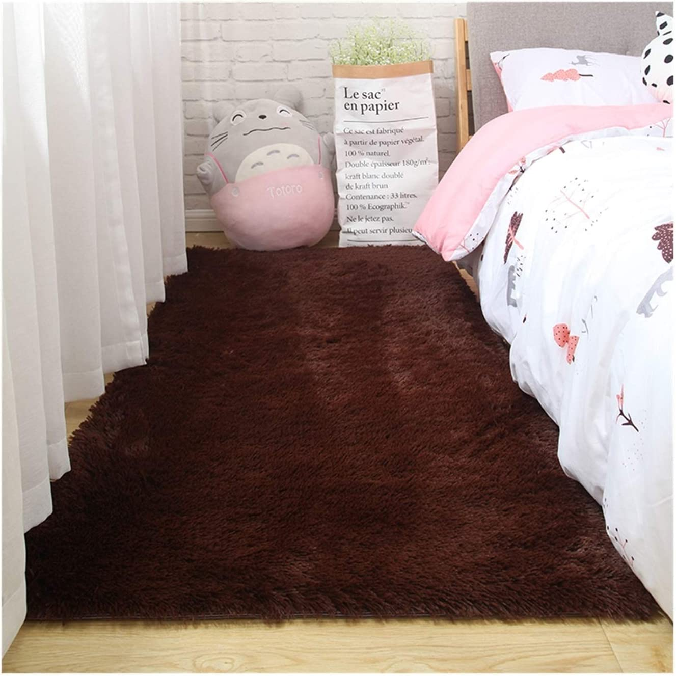 WAZG Max 42% OFF Ranking TOP19 SYBLD Fluffy Tie-dye Carpet M for Bedroom Decoration Used