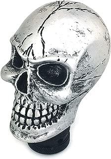 Thruifo Skull MT Car Stick Shifter, Small Teeth Devil Head Style Gear Shift Knob Fit Most Manual Automatic Vehicles, Silver