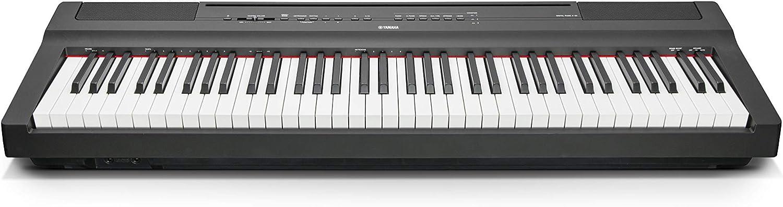 YAMAHA P121 piano digital portátil, acabado negro
