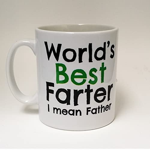 Worlds Best Farter Mean Father Dad Mug Birthday Coffee Gift