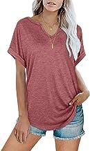 XYJD Lente en zomer vrouwen casual trui V-hals effen kleur losse korte mouwen T-shirt top vrouwen