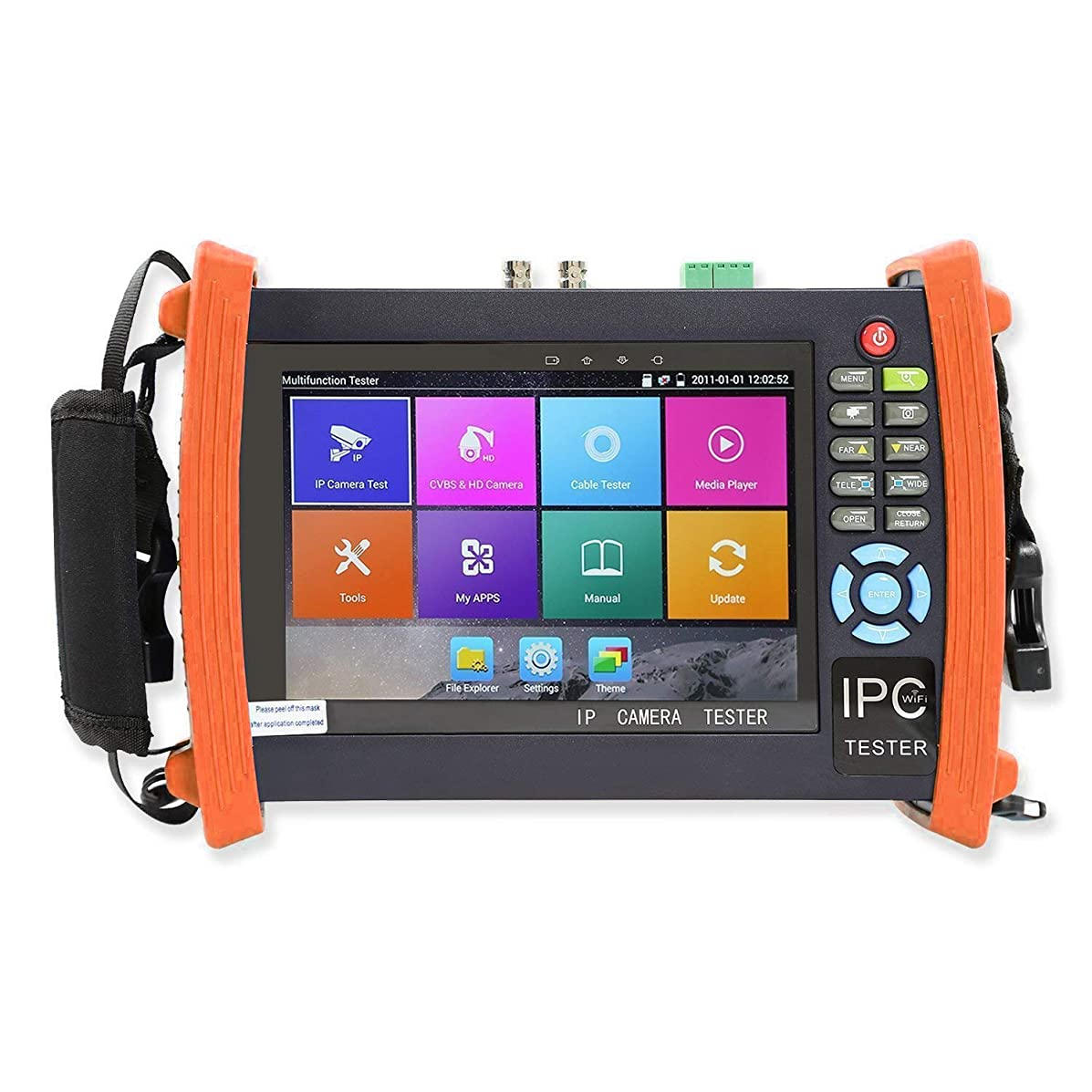 Electop Upgrated 7 Inch CCTV Tester Onvif IP Camera Tester Touch Screen Monitor AHD,HD-TVI,HD-CVI HDMI 1080P,PTZ Control,POE,WiFi,IP Scan,Port Flashing ET-ADH8600 Plus