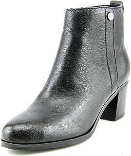 Marc Fisher Womens Samona Leather Ankle Booties Black 7 Medium (B,M)