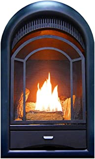 arched ventless gas fireplace
