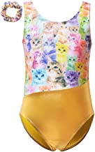 Gymnastics Leotards for Girls Unicorn Dance Clothes Gold Silver Metallic Outfits