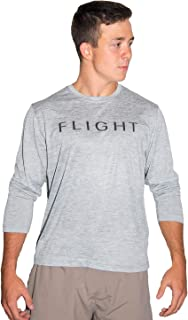 Flight Apparel Men's Long Sleeve Performance Tee 100% Polyester Dry Fit