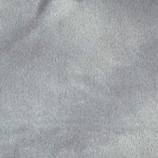 Shannon Fabrics Minky Solid Cuddle 3 Extra Wide Fabric by The Yard, Silver