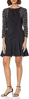 Rebecca Taylor Women's Long Sleeve Tai Embroidery Jersey Dress