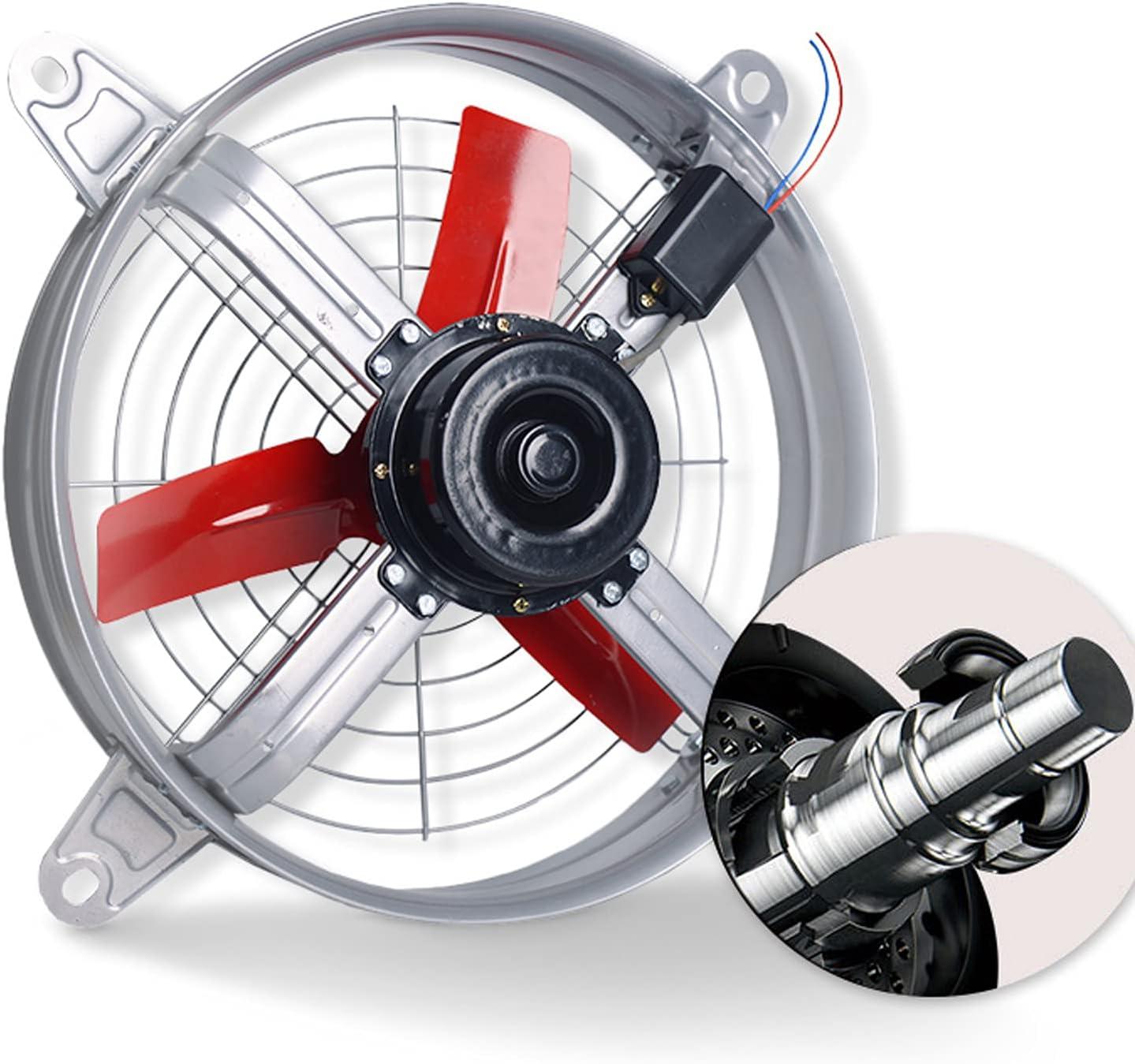 EWYI Ventilador Extractor, Ventilador De Extracción, Máquina De Humo, Potente Ventilador Conducto Circular Industrial Alta Potencia para Ventilación para Sitio Cría, Gall A-12inch