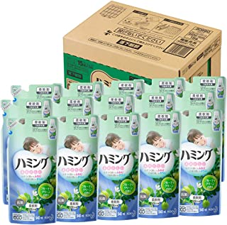 【ケース販売】ハミング 柔軟剤 フルーティグリーンの香り 詰替用 540ml×15個