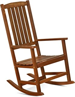 FURINNO Tioman Hardwood Patio Furniture Rocking Chair in Teak Oil, Natural