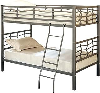 Fairfax Twin Bunk Bed with Ladder Light Gunmetal