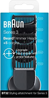 Braun Series 3 Shave & Style BT32 Trimmer Head plus 5 Combs