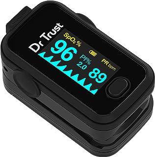 Dr Trust Signature Series Finger Tip Pulse Oximeter With Audio Visual Alarm (Midnight Black)- 201