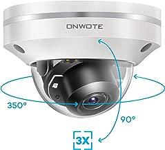 ONWOTE 5MP 2592 1944P HD PTZ PoE IP Security Camera Outdoor Dome, 350° Pan 90° Tilt 3X Optical Zoom Autofocus, 2.8-8mm Motorized Lens, IP66 Waterproof, 5 Megapixels Super HD Onvif Ethernet Camera