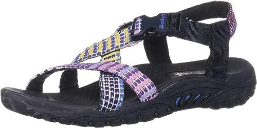 Skechers Wohommes Wohommes Wohommes Reggae-Sew What-Boho Woven Strappy Slingback Sandal, Navy Multi, 7 M US acc