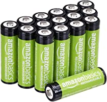 Amazon Basics 16-Pack AA Rechargeable Batteries, Performance 2,000 mAh Battery, Pre-Charged, Recharge up to 1000x