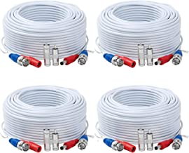 Tainston 4 Pack 200 Feet BNC Video Power Cable,BNC Extension Wire Pre-Made All-in-One Video Security Camera Wire with Connectors for CCTV Camera DVR Surveillance System