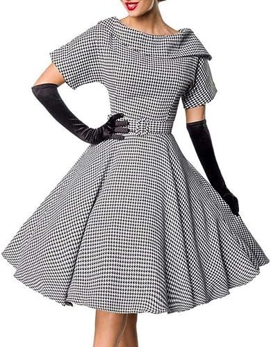 Belsira Retro Swing-Kleid 50150, mit Hahnentrittmuster - Vintage Mode