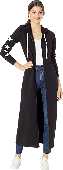 Track Terry JCLA Logo Hooded Duster