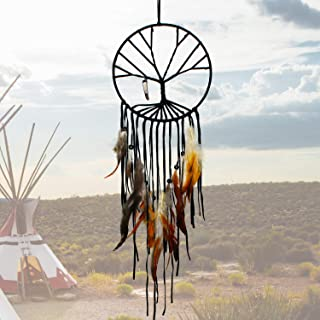 SIKEMAY The Tree of Life Dream Catcher - Handmade Exquisite Feather Beaded Large Dream Catchers for Kids/Cars/Bedroom - Indians Traditional Art Wall Hanging Home Decoration