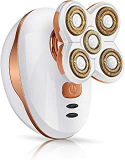 Women's Hair Remover - Liberex Hair Removal Electric Shaver Rechargeable Trimmer Razor with 5 Floating Heads for Legs Arms Face Bikini-line