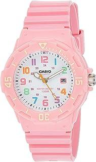 ساعة يد من الراتنج من كاسيو للنساء، شاشة انالوج