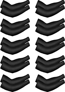 10 Pairs Cooling Sun Sleeves UV Protection Arm Sleeves Ice Silk Arm Cover Sleeve