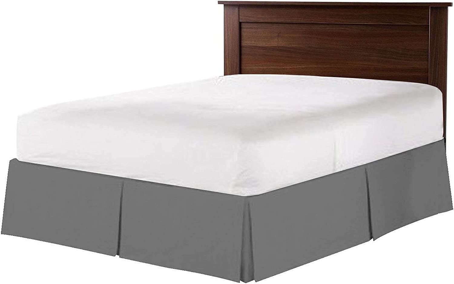Choice Hotel Quality 1-Piece Pleated Bed Skirt Quality inspection Drop 18