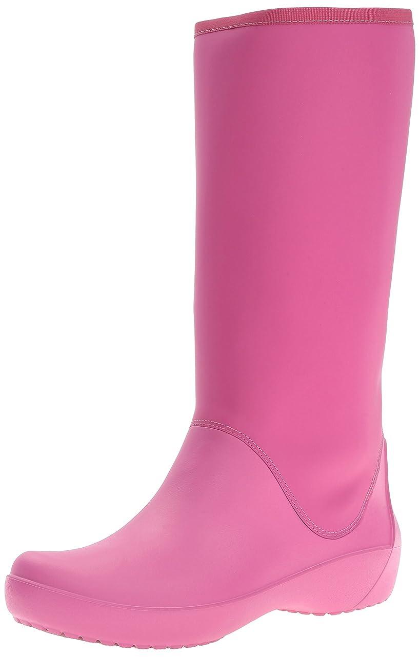 心配する利用可能ボウリング[Crocs] レディース RainFloe Tall Boot カラー: ピンク