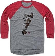 500 LEVEL Ozzie Smith Shirt - Vintage St. Louis Baseball Raglan Tee - Ozzie Smith Sketch Backflip