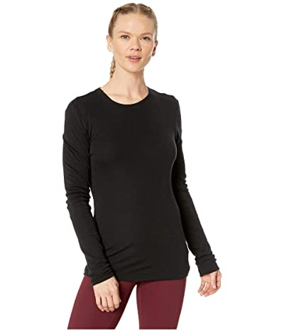Icebreaker 175 Everyday Merino Baselayer Long Sleeve Crew (Black) Women