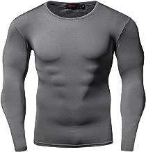 ZRCE Herren Funktionsshirts Kompressionsshirt Fitness Funktionsshirts Schnelltrocknend Sport T-Shirt Langarm Unterhemd