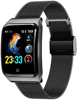 Relojes Smart, Pulsera De Actividad Reloj Inteligente IP67 Impermeable Reloj Deportivo Para Hombre Y Mujer, Con Rtmo Cardíaco, Presión Sanguínea, Sueño Monitor, Contador Y Calorías