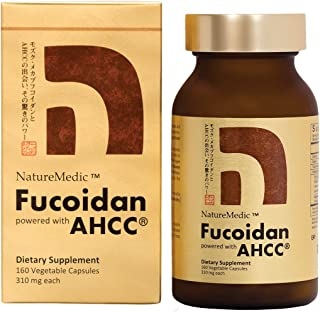 NatureMedic Fucoidan powered with AHCC Brown Seaweed Immunity Supplement with High Purity Organic Mekabu Mozuku Agaricus 1...