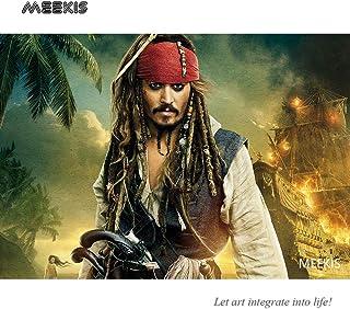 Captain Jack Sparrow Juego de rompecabezas para adultos y niños Tienda hotel familia decoración especial Mini 1000 piezas Puzzle de papel
