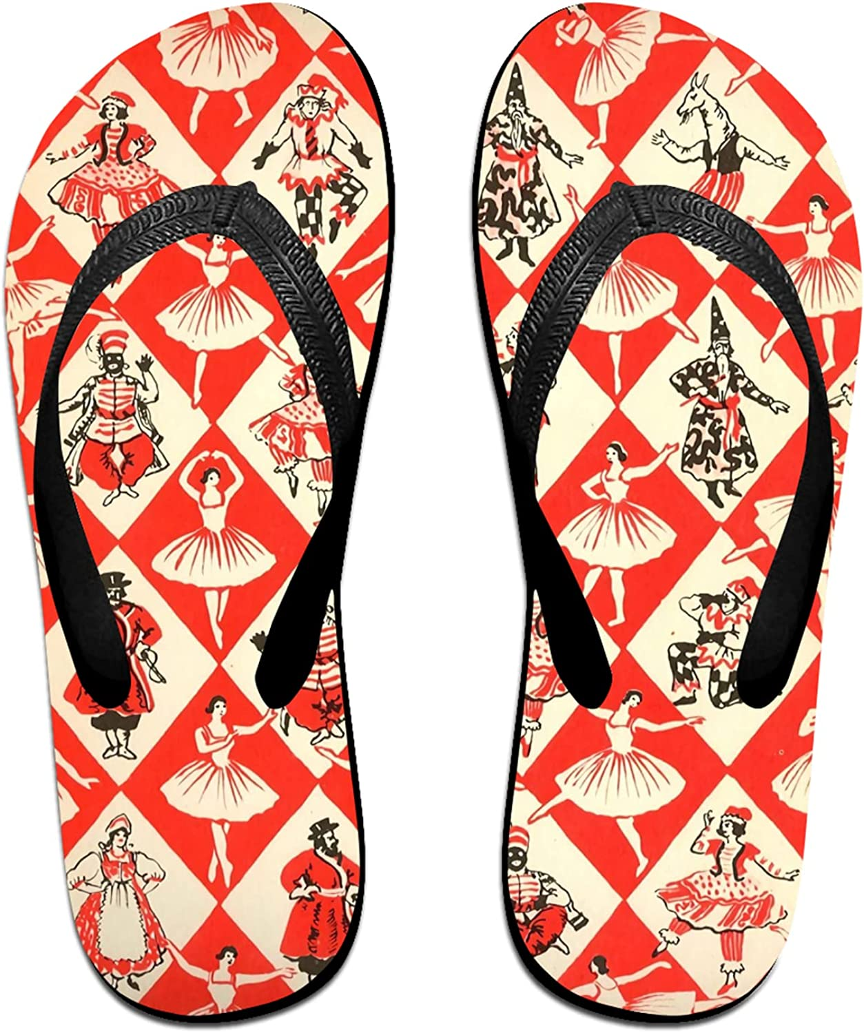 Adult Flip-Flops Soft Thongs Sandals Summer Athletic Slippers for Beach Holiday