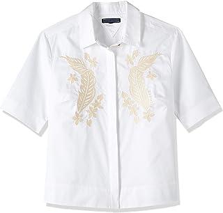 Tommy Hilfiger Women's Ww0Ww22166-White Shirts