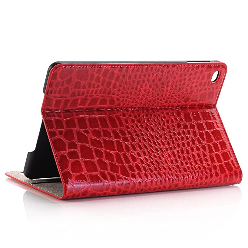FuriGer Case for 2019 Apple iPad Mini 5 7.9 Inch, Slim Full Body Protective Cover Business PU Leather Case with Stand Folio Smart Cover for iPad Mini 5 7.9 Inch 2019 /iPad Mini 4 2015-Red