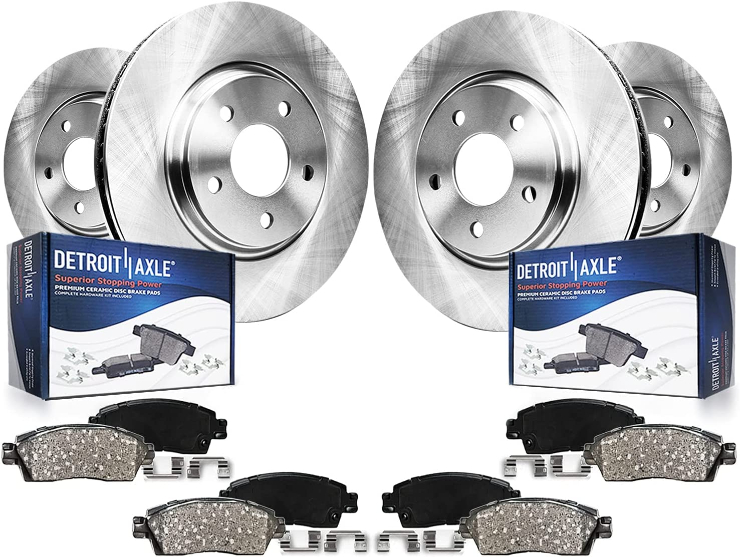 Detroit Axle Max 48% OFF - Front and Rear Disc w Pads Brake Rotors 55% OFF Ceramic